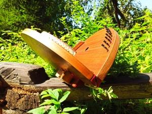 folding twin harp psaltery